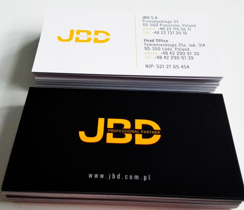JBD - projekt wizytówek
