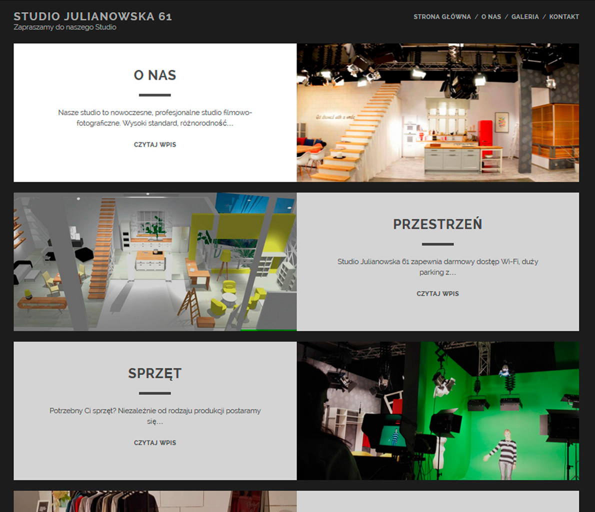Studio Julianowska - strona internetowa